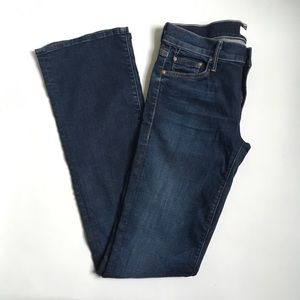 MOTHER The Outsider Slow Ride Dark Boot Cut Jeans